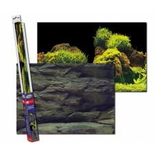 Achterwand poster | Rots en planten motief (60x30cm)