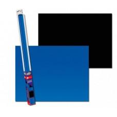 Achterwand poster | Blauw - Zwart (60x30cm)